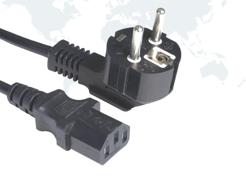 European plug SCHUKO Power Cords EU03 end IEC C13
