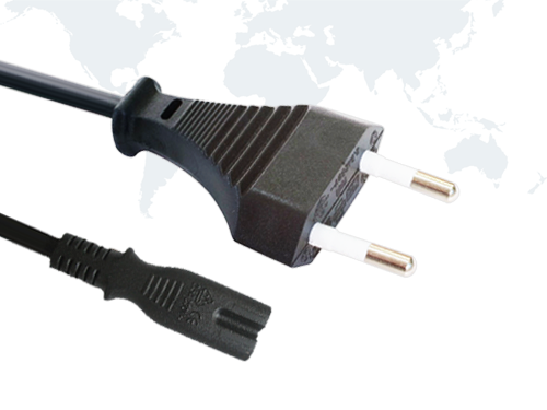 Europe Plug VDE Power Cord EU01 end IEC C7