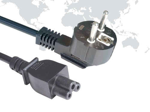 Europe plug SCHUKO Power Cords EU03 end IEC C5